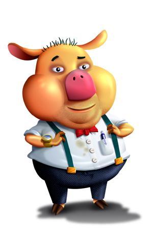animated pig