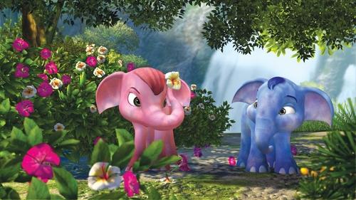 KHANKLUAY - 2006 - 14770_blue_elephant_screen_pink_flower
